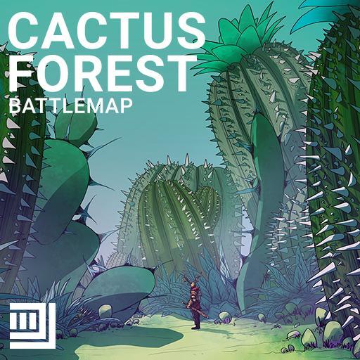 Cactus Forest Battlemap