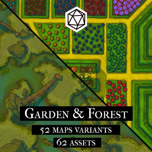 Garden & Forest Map And Assets Pack