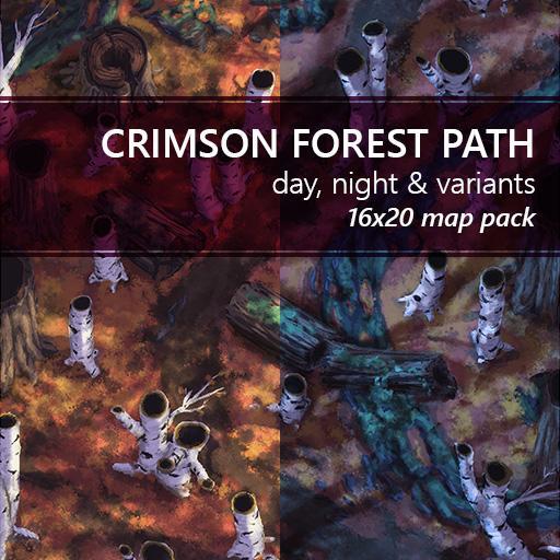 Crimson Forest Path Battlemaps