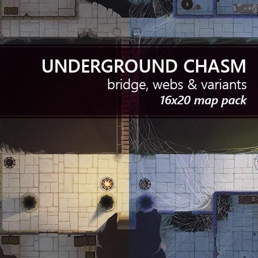 Underground Chasm Dungeon Battlemaps