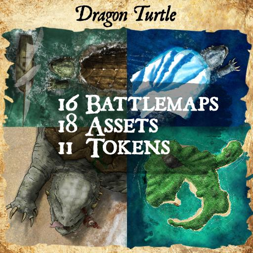 Dragon Turtle Map & Assets