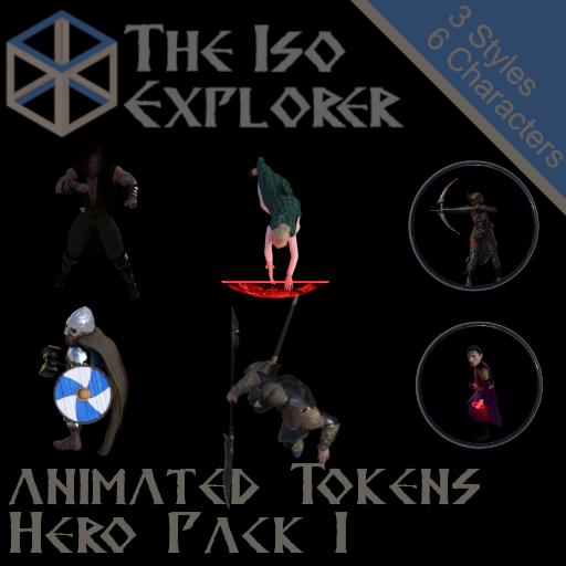 Animated Tokens : Hero Pack 1