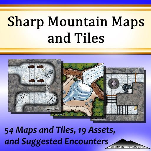 Sharp Mountain Maps and Tiles