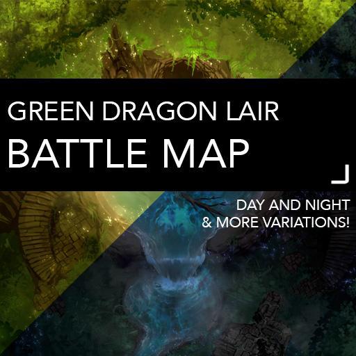 Green Dragon Lair Battle Maps