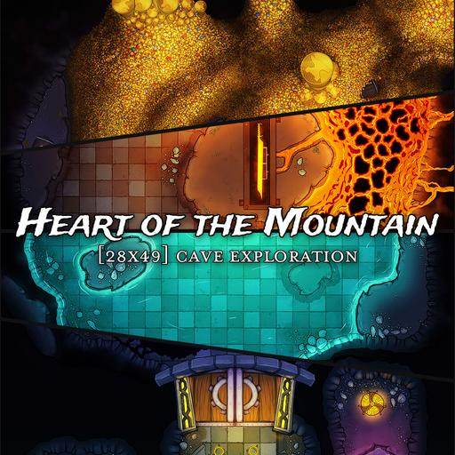 Heart of the Mountains Battlemaps