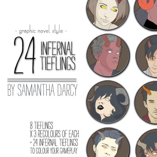 24 Infernal Tieflings
