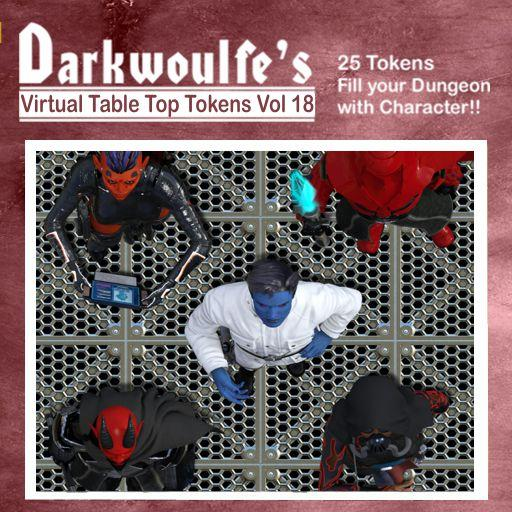 Darkwoulfe's Token Pack Vol18: Space Saga