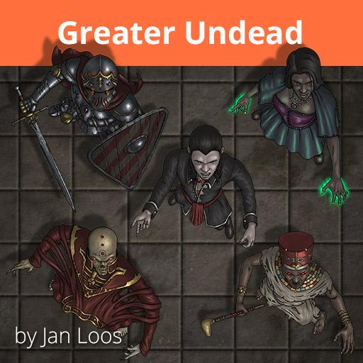 Jans Token Pack 21 - Greater Undead