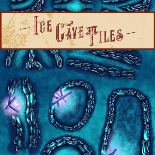 Ice Cave Modular Dungeon Tiles
