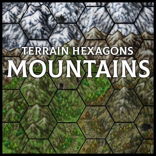 Terrain Hexagons: Mountains