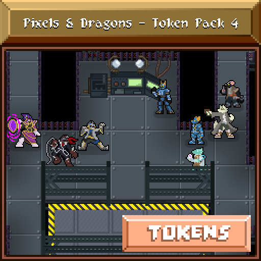 Pixels and Dragons - Token Pack 4