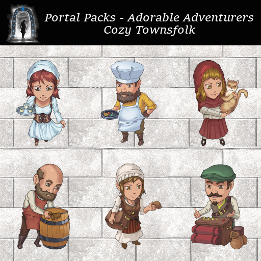 Portal Packs - Adorable Adventurers - Cozy Townsfolk