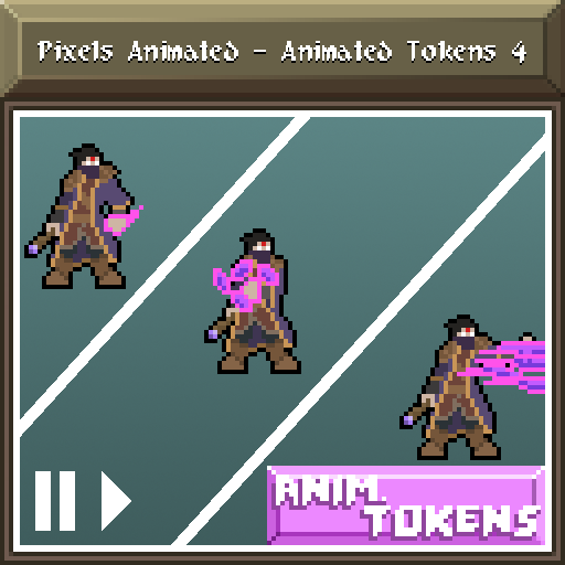 Pixels Animated - Animated Tokens 4
