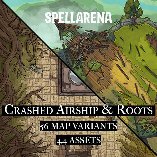 Crashed  Airship & Roots Map and Assets Pack