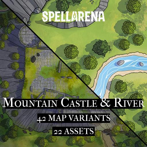 Mountain Castle & River Map and Assets Pack