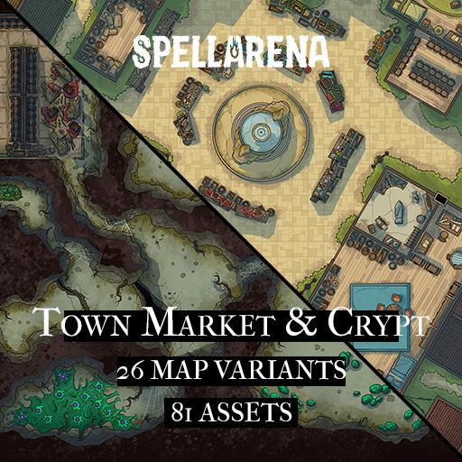Town Market & Crypt Map and Assets Pack