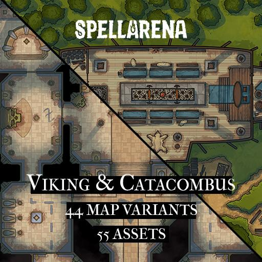 Viking & Catacombus Map and Assets Pack