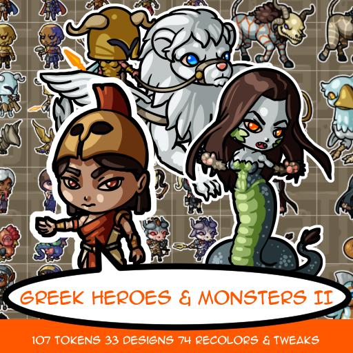 Greek Hero and Monster Tokens II