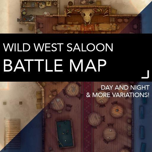 Wild West Saloon Battle Maps