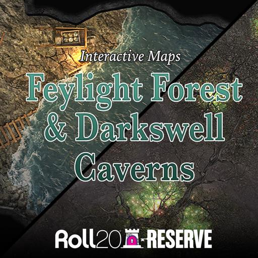 Feylight Forest & Darkswell Caverns: Interactive Maps