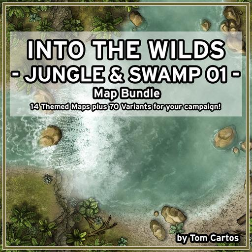 Into the Wilds Jungle & Swamp 01 Map Bundle