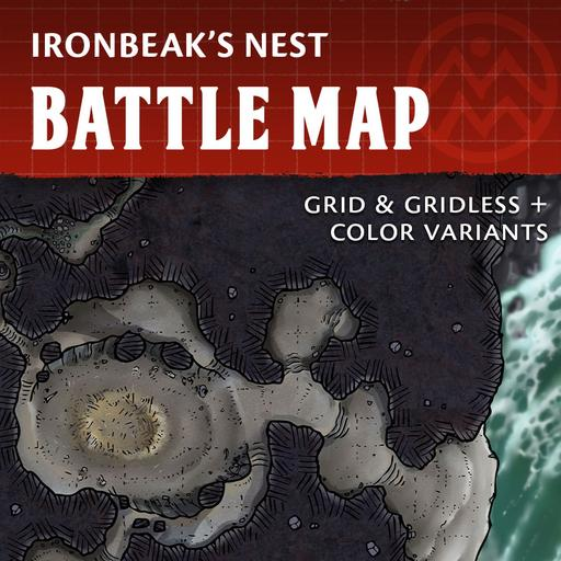 Ironbeak's Nest - Creature Lair Battle Map