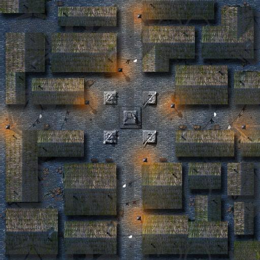 City Street Night Battle Map