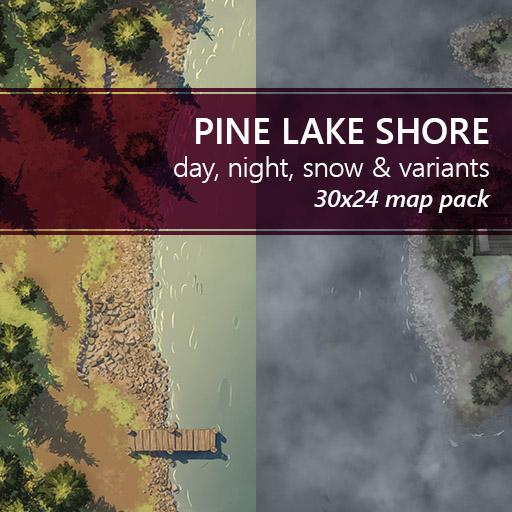 Pine Lake Shore Battlemaps