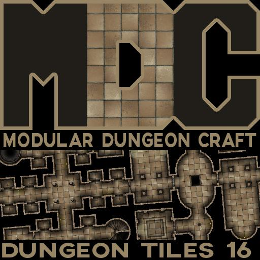 Modular Dungeon Craft, Dungeon Tiles 16