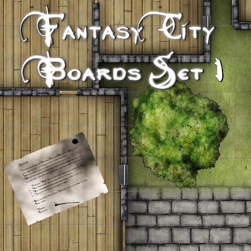 Fantasy City Boards Set 1