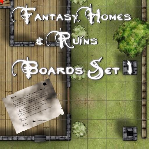Fantasy Homes & Ruins Boards Set 1