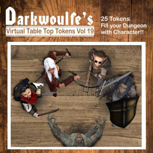 Darkwoulfe's Token Pack Vol19: Heroes and Villains