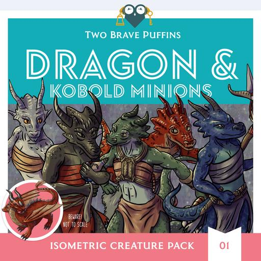 Dragon and Kobolds - Isometric Creature Pack 01