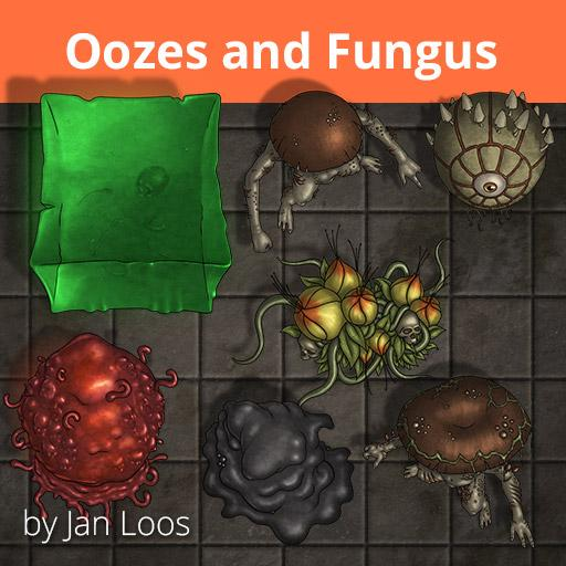 Jans Token Pack 22 - Oozes and Fungus