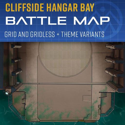 Hangar Bay 3040 - Sci-Fi Battle Map