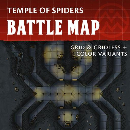 Temple of Spiders - Dungeon Battle Map