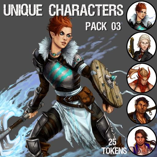 Unique Characters Pack 03
