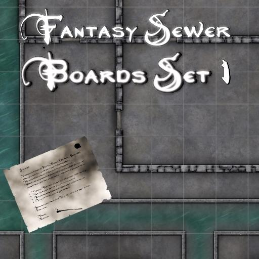 Fantasy Sewer Board Map 1