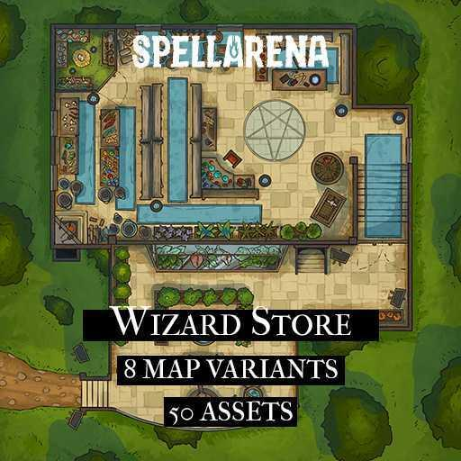 Wizard Store Map Pack and Assets