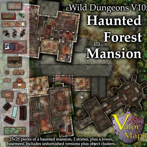 Wild Dungeons V10: Haunted Forest Mansion