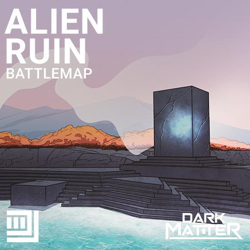 Alien Ruin Battlemap