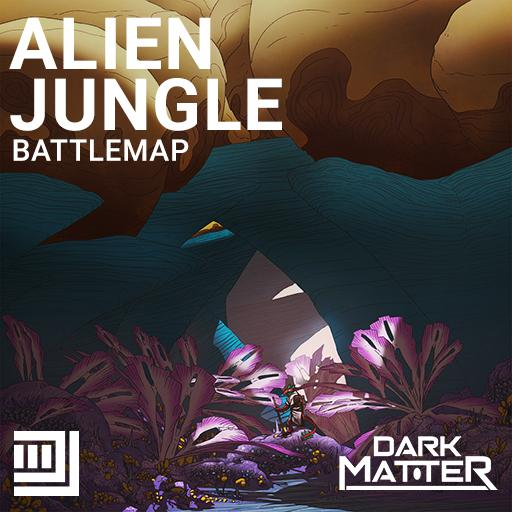 Alien Jungle Battlemap