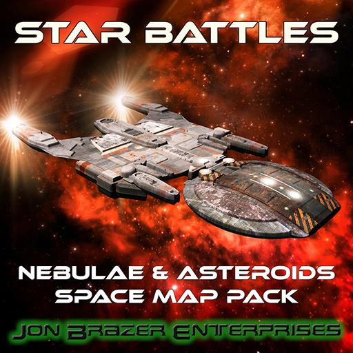 Star Battles: Nebulae & Asteroids Space Map Pack
