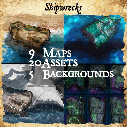 Shipwreck Maps and Tokens