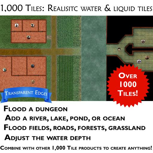 1000 Tiles - Realistic water and liquid effects pack