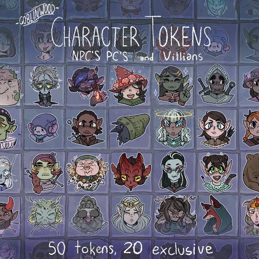 Woodlands Character Tokens - NPC's, PC's and Villians
