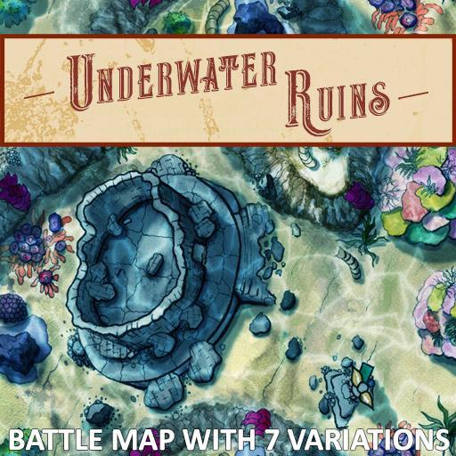 Underwater Ruins Battle Map