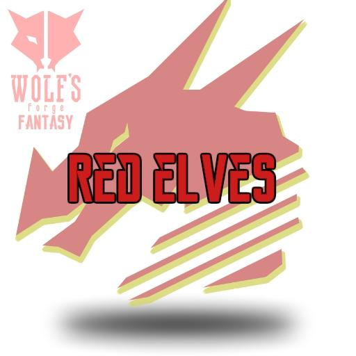 Fantasy Red Elves Token set