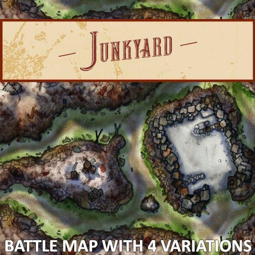 Junkyard Battle Map