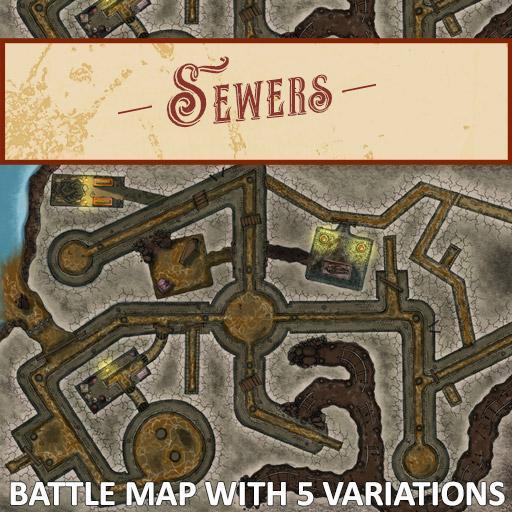 Sewers Battlemap